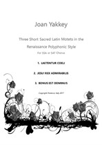 Three Short Sacred Latin Motets for 3 voices